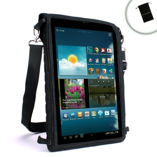 USA Gear FlexARMOR X Tablet Cover Case with Touch Capacitive Screen Protector and Adjustable Shoulder Strap for iView , Aluratek , Kocaso , Mach Speed , Ematic , HipStreet , Nextbook , Supersonic & More! Bonus Accessory Bag at Electronic-Readers.com