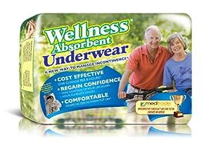 Wellness Absorbent Underwear w/ NASA Technology by Wellness Briefs