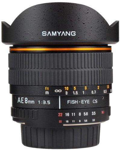 SAMYANG AE 8mm F / 3.5 IF MC Fish-eye Lens for
