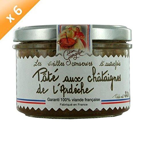 LUCIEN GEORGELIN Pâté aux Châtaignes d'Ardeche 6x220g