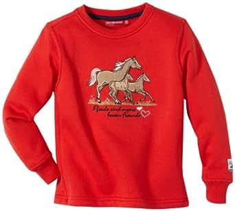 Salt & Pepper Mädchen Sweatshirt 3511292, Gr. 140, Rot (purpur red)