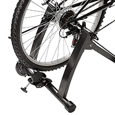 Exercise Bicycle Trainer Magnetic Bike Training Stand Stationary Indoor Gray