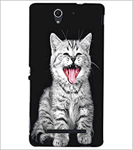 SONY XPERIA C3 WILD CAT Designer Back Cover Case By PRINTSWAG