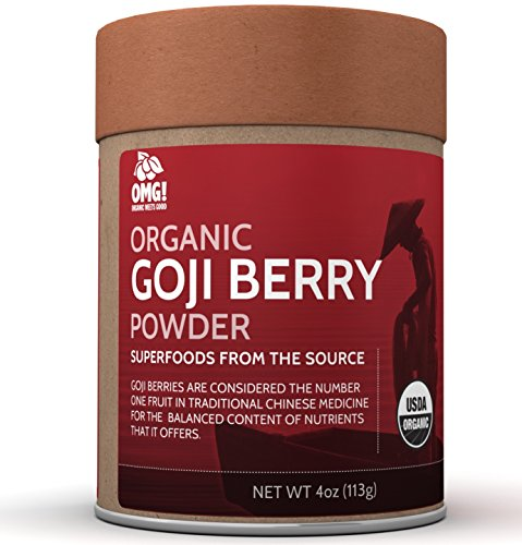 OMG! Superfoods Organic Goji Berry Powder - 100% Pure, USDA Certified Organic Goji Berry Powder - 4oz (Organic Goji Juice compare prices)
