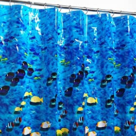 Photoreal Fish Vinyl Shower Curtain