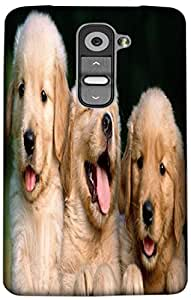 Timpax Protective Armour Case Cover lightweight construction easily slides in and out of pockets. Multicolour Printed Design : Three little puppies.For LG G2 mini ( D618 )