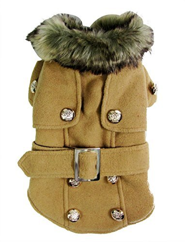 Dogloveit-Fashion-Elegant-Windbreaker-Jacket-With-Woolen-Collar-Soft-Winter-Coat-for-Small-Dog-Cat-Puppy-PetThe-sizes-are-for-small-dogscats-and-run-smallplease-measure-your-dogcat-carefully-before-or