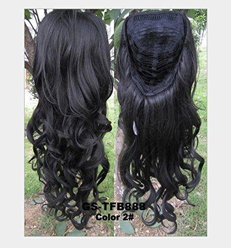 Hot Fashion Natural Loose Wavy High Temperature Fibre Mutile Colors Synthentic Half Wig For Women Beauty (2#)
