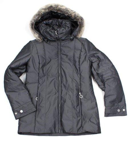 Gr. S/36 Orig. LUHTA Damen Kurz Mantel Winter-Jacke mit Kapuze GRAU 169,90€ NEU