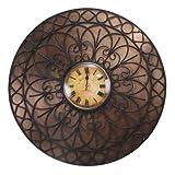Decoritte Iron And Glass Antique Theme Wall Clocks (27 Cm X 27 Cm X 1.75 Cm, 83680)