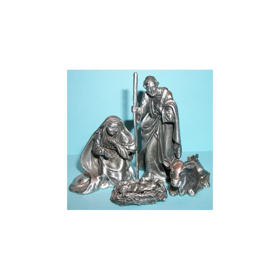 Hudson Pewter Nativity Holy Family Jesus, Mary, Joseph on