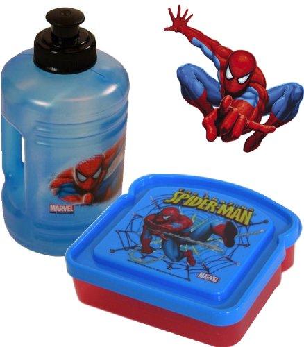 Spiderman Lunch Set (Water Bottle & Sandwich Box) front-981243