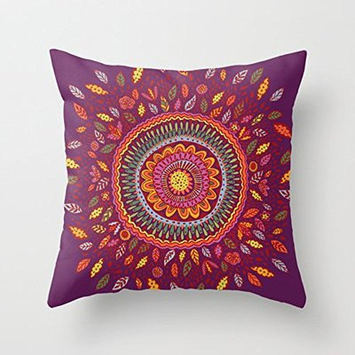 Autumn Coming Leafy Fall Mandala Throw Pillow By Janet Broxonfor Your Home