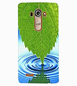 ColourCraft Leaf and Water Design Back Case Cover for LG G4
