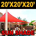 BIG 20'x20'x20' Oversized Triangle Garden Patio Sun Sail Shade 20 ft , Color Red from MTN Shadesmith