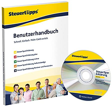 SteuerSparErklärung Rentner & Pensionäre 2017 (für Steuerjahr 2016 / Frustfreie Verpackung)