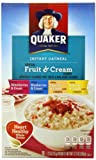 Quaker Instant Oatmeal Fruit and Cream Variety 350g