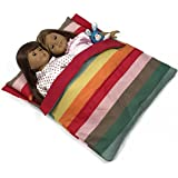 Doll Bedding Striped Pattern Reversible Twin Doll Sleepover Bag For 18 Dolls - Fits 2 18 Inch Dolls - Doll Sleepover...