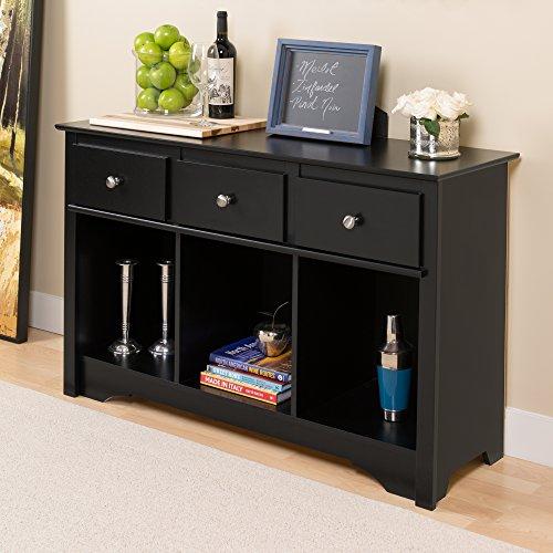 Prepac BLC-4830 Sonoma Living Room Console (Black)