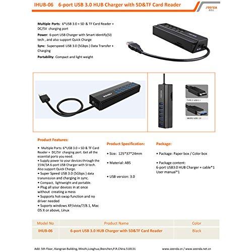 USB 3.06-port Aluminium Hub 1,3Füße für PC MAC LINUX High Performance Interface