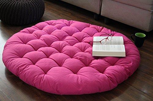 christmas-gift-pink-papasan-round-lounge-chair-seat-cushion-pillow-for-maximum-comfort-36-diameter