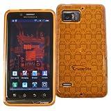 Orange - Cruzer Androidified High Gloss TPU Soft Gel Skin Case - For Motorola Droid Bionic XT875