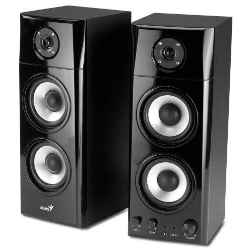 Genius SP-HF1800A 3 Way Wood Hi-Fi Speakers Black Friday & Cyber Monday 2014
