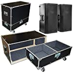 "Speakers Monitors Road Case Kit Fits 2 QSC K12 Speakers - 2 Compartments 15""x15""x24"" High from Roadie Products, Inc."