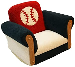 Newco Kids Toddler Deluxe Rocking Chair, Baseball