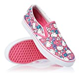 Vans - U Classic Slip-On Shoes In Hello Kitty Pink/True White, Size: 4 D(M) US Mens / 5.5 B(M) US Womens, Color: Hello Kitty Pink/True White