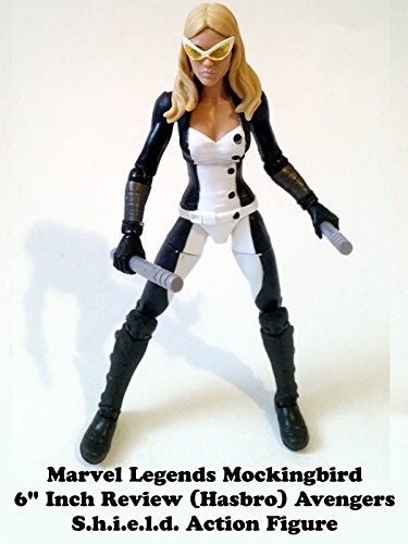 "Marvel Legends MOCKINGBIRD 6"" inch Review (Onslaught BAF) Avengers S.h.i.e.l.d. action figure"