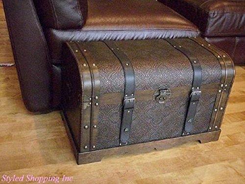 Antique Victorian Wood Trunk Wooden Treasure Hope Chest -- Medium Size 0