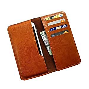 i KitPit : PU Leather Wallet Flip Pouch Case For iBall 5h Quadro  BROWN  available at Amazon for Rs.249
