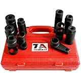 TruBuilt 1 Automotive 10 Piece Lambda Sensor / Oxygen O2 Sensor and Oil Pressure Sending Unit Master Socket Set - HEAVY DUTY PROFESSIONAL GRADE