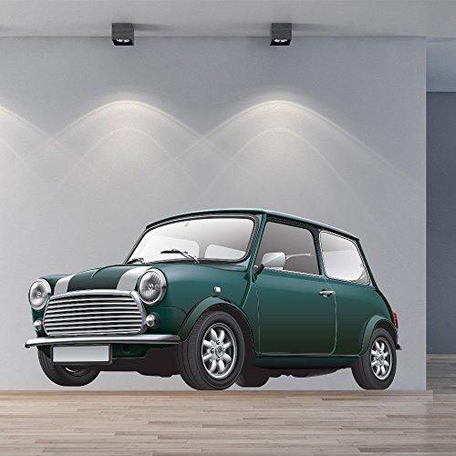Verde Mini Cooper Classic Car Colore Wall Stickers Trasporti Art Stickers Decor disponibile in 8 taglie Gigantesco Digitale