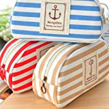 King So Stripe Pencil Case Pouch Purse Cosmetic Makeup Bag Storage Student Stationery Zipper Wallet