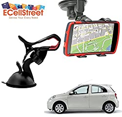 ECellStreet TM Mobile phone soft tube mount holder with suction cup - Multi-angle 360° Degree Rotating Clip Windshield Dashboard Smartphone Car Mount Holder NISSAN Kicks