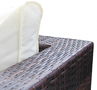 1PLUS Lounge-Sofa aus Polyrattan (braun) incl. wasserabweisenden Polstern von 1PLUS auf Gartenmöbel von Du und Dein Garten