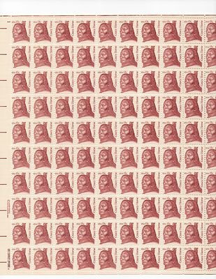 Crazy Horse Sheet of 100 x 13 Cent US Postage Stamps NEW Scot 1855