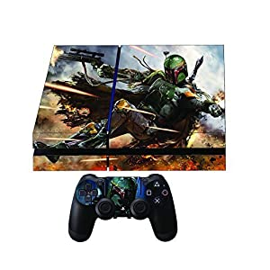 Premium Designer Limited Edition Playstation 4 Skin Ps4 Star Wars Boba Fett + 2 Free PS4 Controller Skins