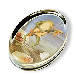 Serenade - Oval Glass Paperweight