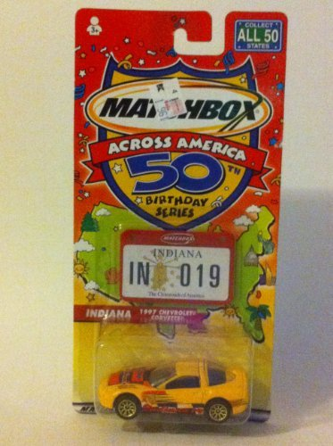 Matchbox Across America 50th Birthday Series Indiana 1997 Chevrolet Corvette