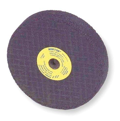 Norton Abrasives - St. Gobain Grinding Wheel, T1, 3x1/2x3/8, Ao, 24g, Black