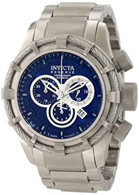 Invicta Men's 1445 Specialty Chronograph Blue Dial Stainless Steel Watch