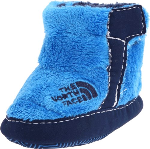 The North Face Nse Fleece Bootie (Infant/Toddler),Drummer Blue/Deep Water Blue,2 M Us Infant front-39030