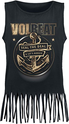 Volbeat Anchor Top donna nero XL