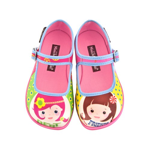 Hot Chocolate Design Girls Best Friends Mary Jane Flat Multicoloured Us Size: 8.5 front-668892
