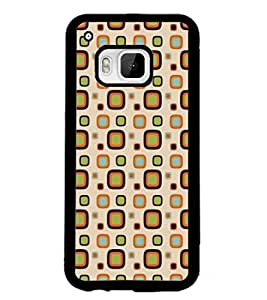 PrintDhaba Pattern D-5308 Back Case Cover for HTC ONE M9S (Multi-Coloured)