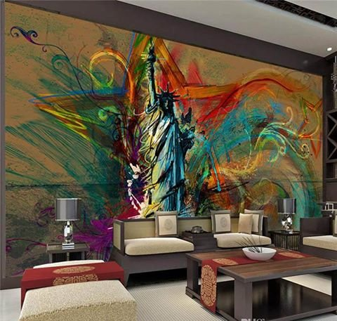 custom-large-wall-mural-statue-of-liberty-photo-wallpaper-abstract-art-ceiling-b