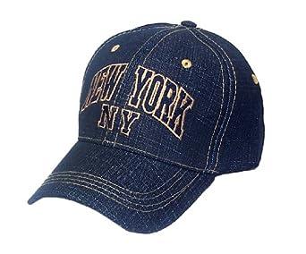 Denim Blue Jeans Style NEW York Ny Baseball Hat